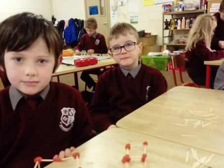 Today in Ms. Kearns' class we were learning about 3Dshapes and their properties. Take a look at