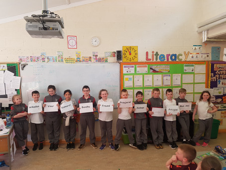 In third class we learnt all about the qualities of a good friendship.
