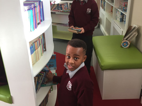 Busy bookworms in Clondalkin Library