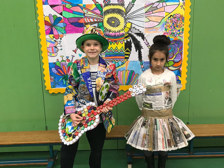 Junk Couture Costumes in Ms. Fagan's 2nd Class