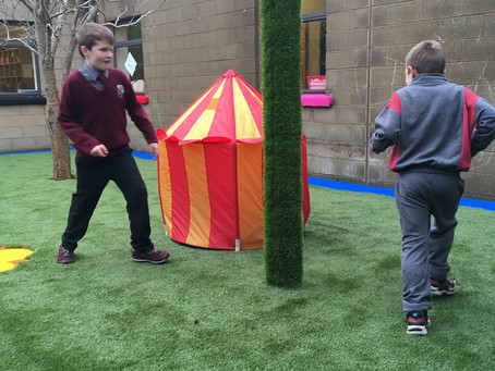 Fun in our New Garden Space