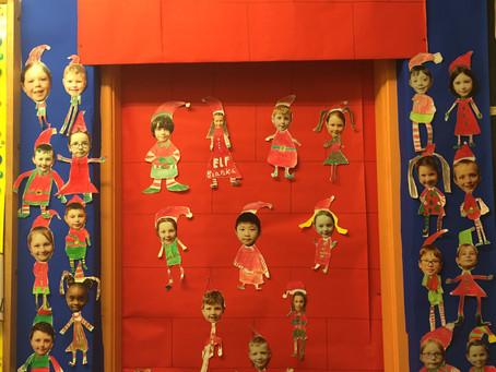 Christmas Art Door 🎅🏻Ms Fagan's 2nd