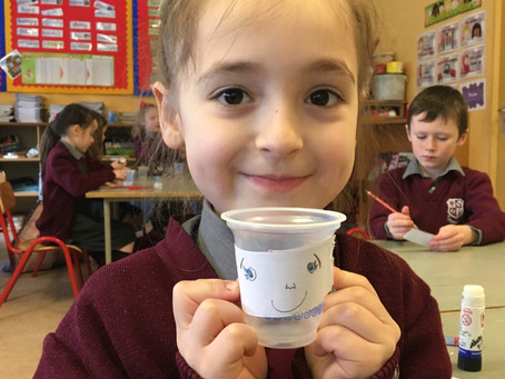 First Class planted cress seeds and kept a growing diary.