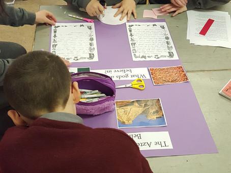 Aztec projects in Ms. Murphy's class...