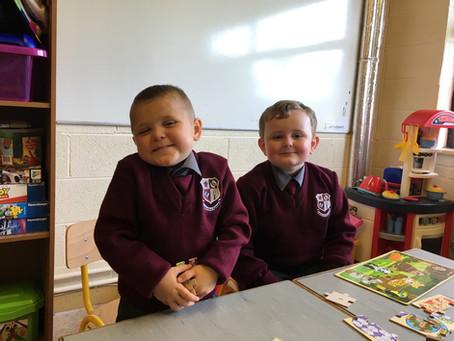 Junior Infants first week in school!