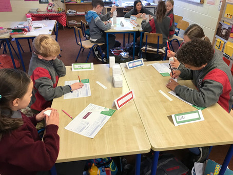 Junior Achievement-Ms Kerrigan's class learning all about builders and city planners
