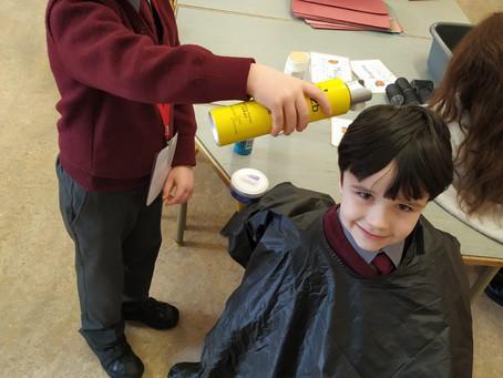 Crazy hair day in Senior Infants 💇🏻♂️💇🏽♀️