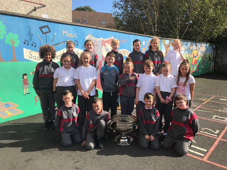 Ms Kerrigan's 3rd Class were very excited to see the Sam Maguire