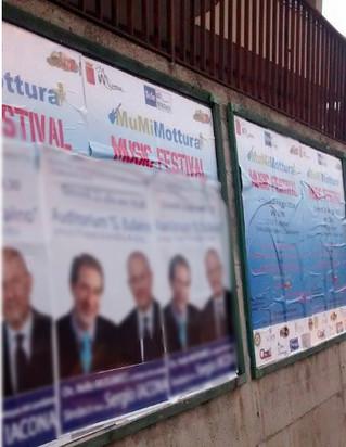 Manifesti illegali oscurano i manifesti del MuMiMottura Music Festival