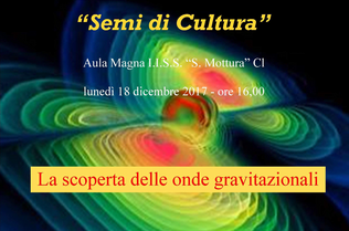 Progetto di divulgazione scientifica, si inizia con un seminario sulle onde gravitazionali