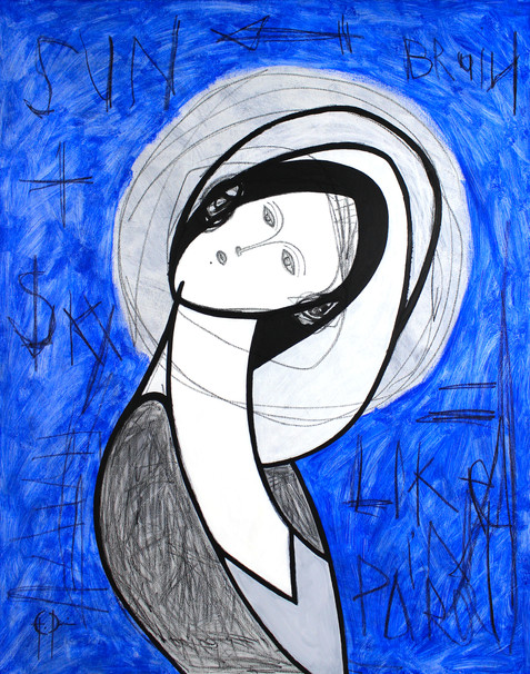 "Painting ""LADY IN BLUE"""