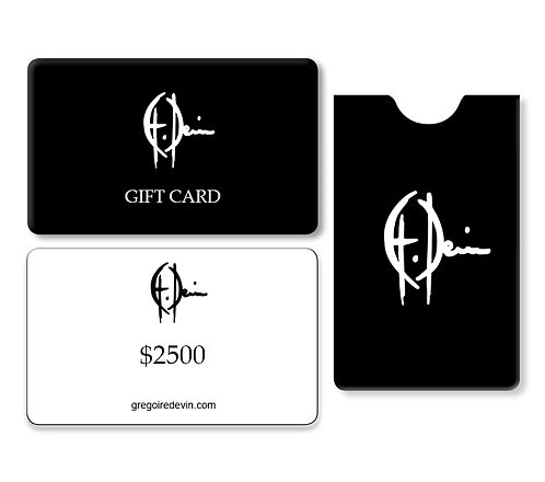 USD 2500 GIFT CARD