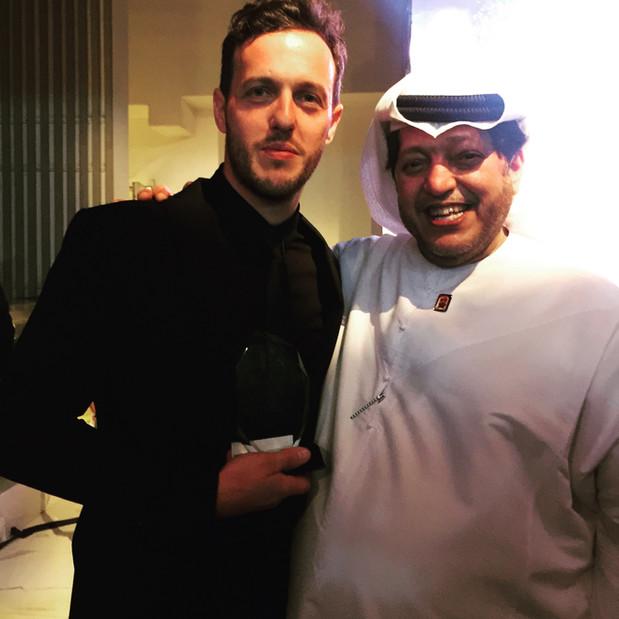 With His Highness Sheikh Saeed Bin Tahnoun Bin Mohammed Al Nahyan in Dubai