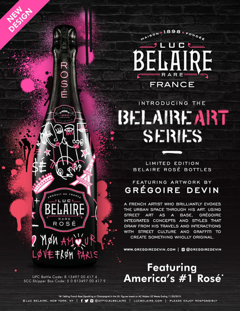 New 2020 Art Collaboration with Luc Belaire