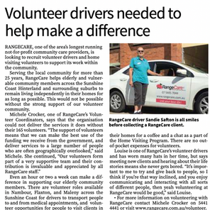 Volunteer drivers needed to help make a difference