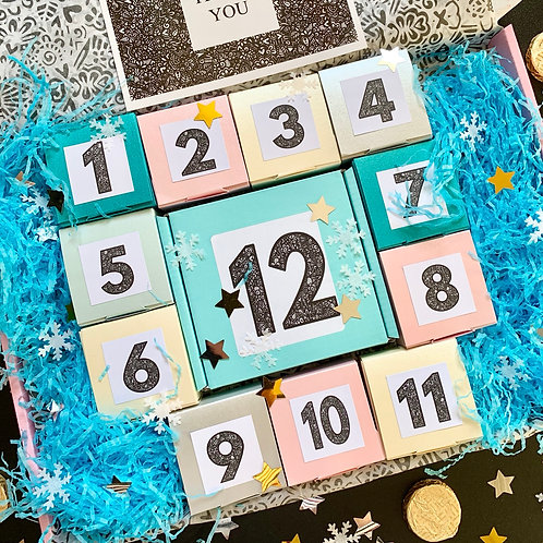 FESTIVE COUNTDOWN CALENDAR (12 day) - includes DPD delivery