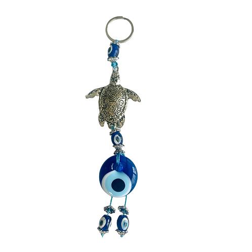 Silver Caretta Sea Turtle Key Chain