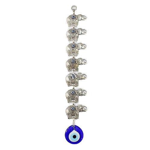Evil Eye Wall Hanging Ornament - Seven Elephants