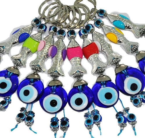 Evil Eye Keychain - Fish
