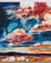 Sky Interrupted 13, oil on wood panel, 1
