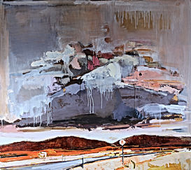 Breath, oil on wood panel, 48 x 54 inche