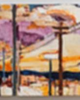 Sky Interrupted 7, oil on wood panel, 12