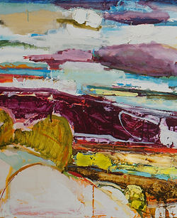 OH-Looking West, 20x48, oil on panel, $2