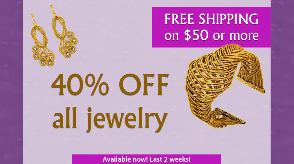 40% Off all jewelry