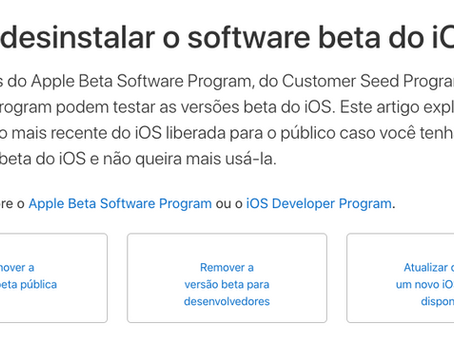 Como apagar iOS Beta do seu iPhone