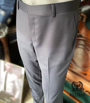 Regular Fit Plain Trousers