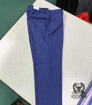 Navy Stripped Trousers