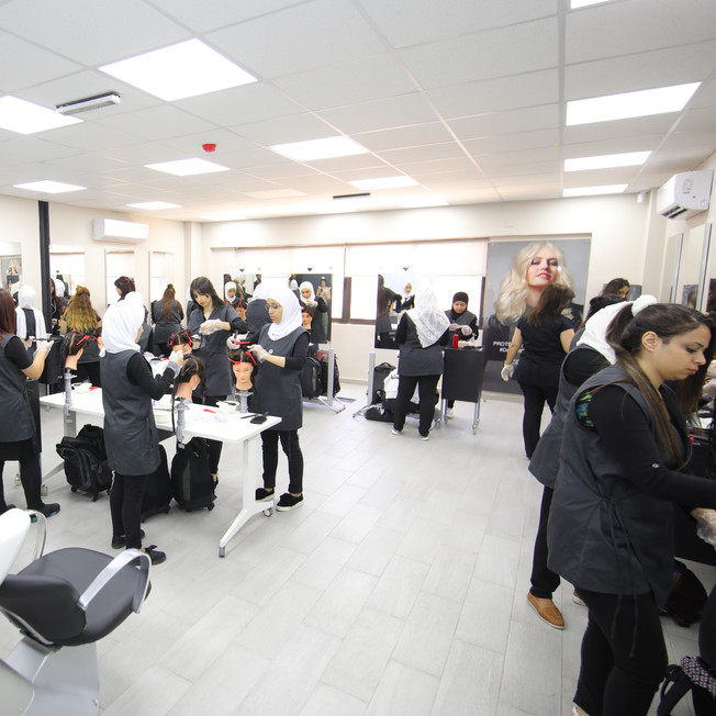 Hairstyling classroom