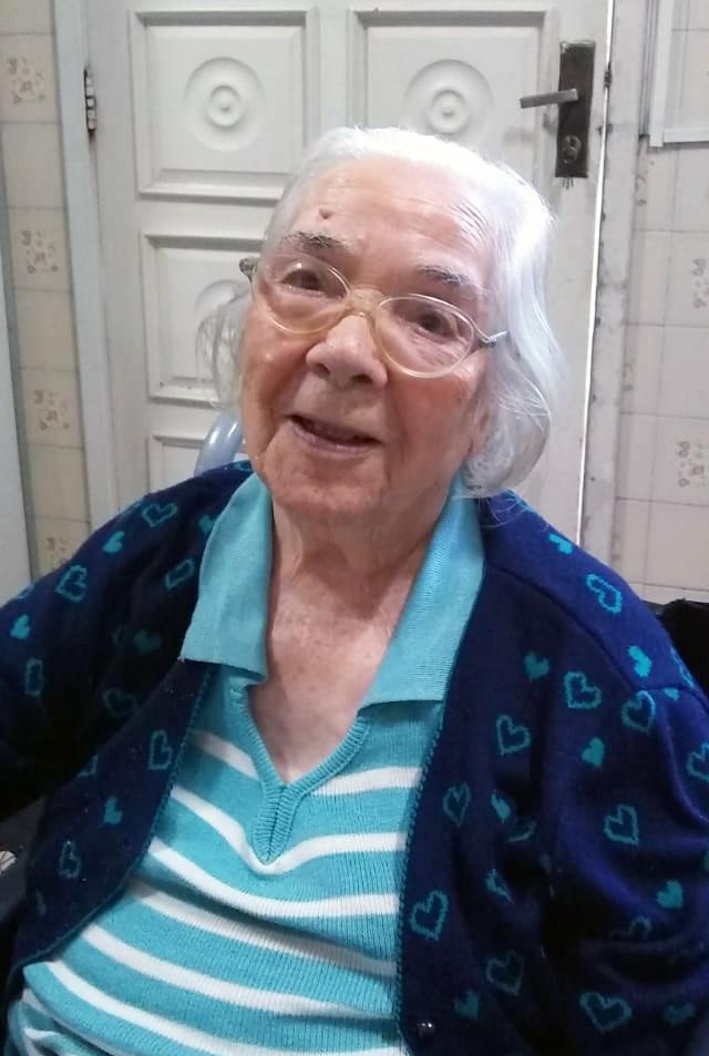 Dna. Zulmira, de 92 anos.