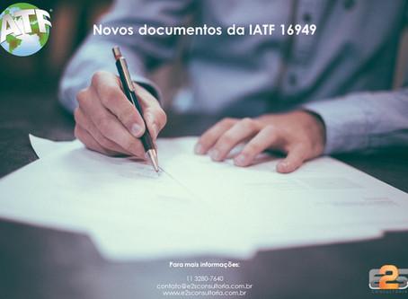 Novos documentos da IATF 16949:2016 - ago/20