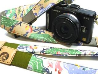 気仙沼の海の生きものたちのカメラストラップ