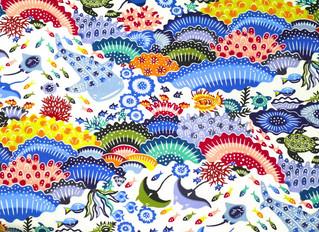 紅型デザイン『沖縄の珊瑚礁』柄が仲間入りしました☆