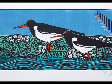 Oystercatchers and Samphire