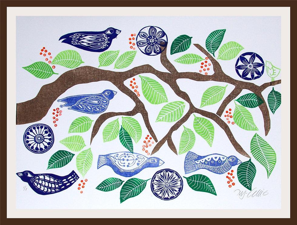Birds and branch red framed.jpg