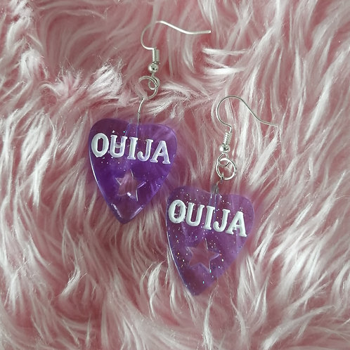 Purple Star Ouija Earrings