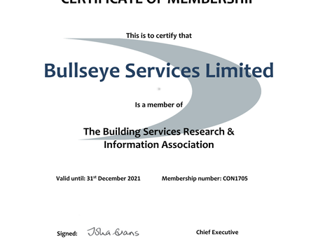 We're Now Members Of BSRIA!