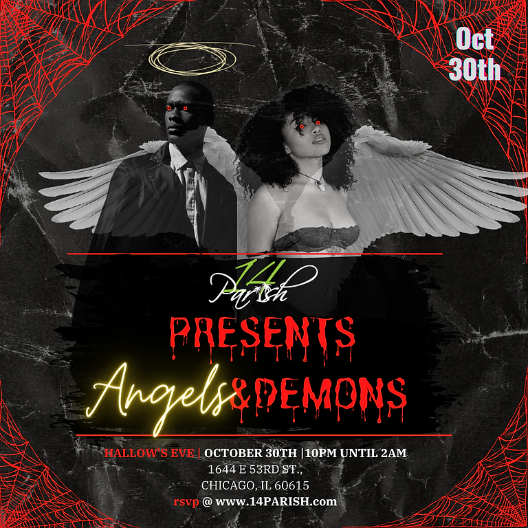 Angels & Demons Halloween Cocktail Party