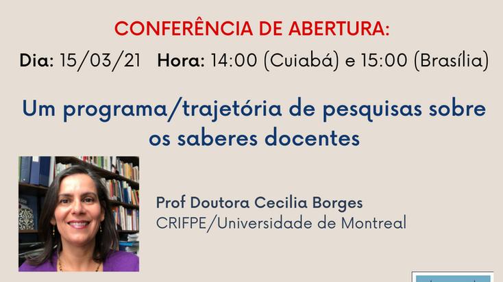 [15/03 ] Conferência de abertura: Um Programa/Trajetória de Pesquisa sobre os saberes docentes