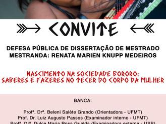 Convite de Defesa Pública de Dissertação de Mestrado de Renata Marien Knupp Medeiros