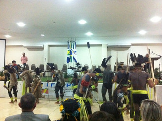 Autoridades e indígenas abrem Fórum de Políticas de Esporte e lazer em Cuiabá