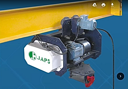 Electric Wire Rope Hoist From JAPS Project