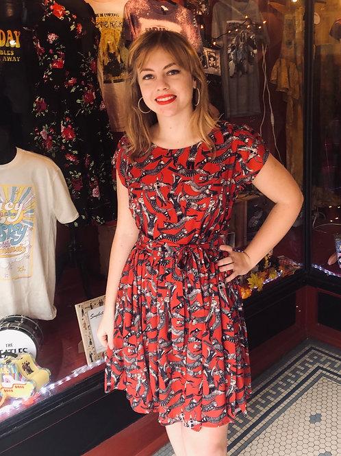 Red Roman Cat Dress!