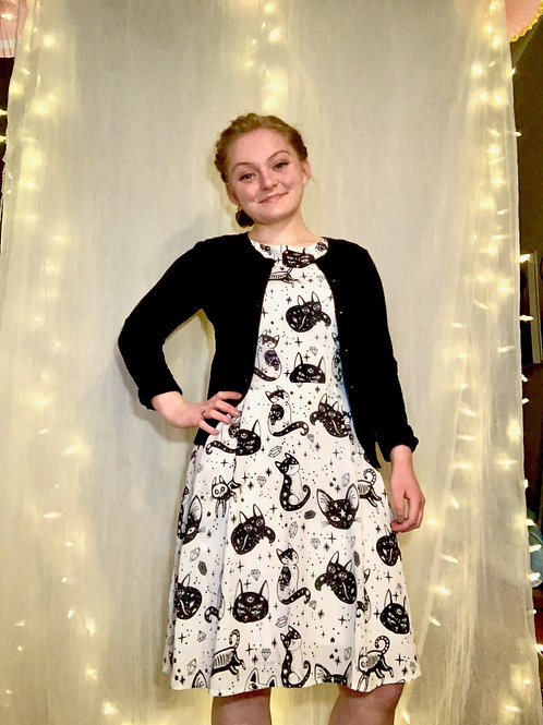 Whimsical Cat Dress