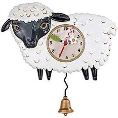 Black Sheep Clock with Swinging Bell Pendulum