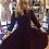 Thumbnail: Classic Vintage Style Burgundy Velvet Dress
