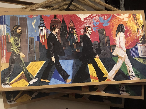 Colorful Abbey Road Wood Plaque